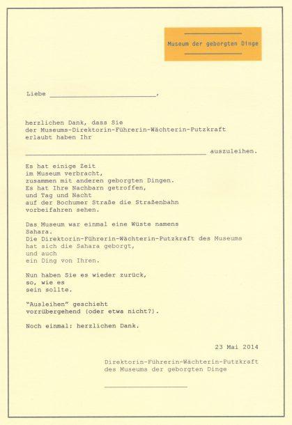 museumletterDE